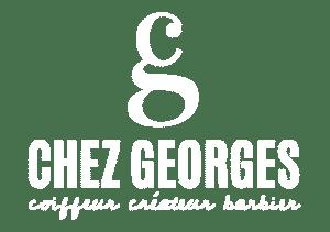 Logo Blanc de Chez Georges Coiffeur à Villefranche-sur-Saône